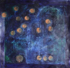 Physalis In Blue - 2013 Sold